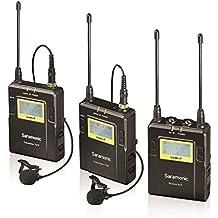 Saramonic RX9+TX9+TX9 Sistema de Micrófono Inalámbrico Digital UHF de Solapa con 96-Canales con Transmisor de Bolsillo, Receptor Portátil, Mic de Solapa, Montaje de Zapata, Salidas XLR/3.5mm + Más