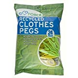 Ecoforce 48 Strong Hurricane Force Grip Clothes Pegs made of Recycled Plastic (2 packs of 24) by Eco Force