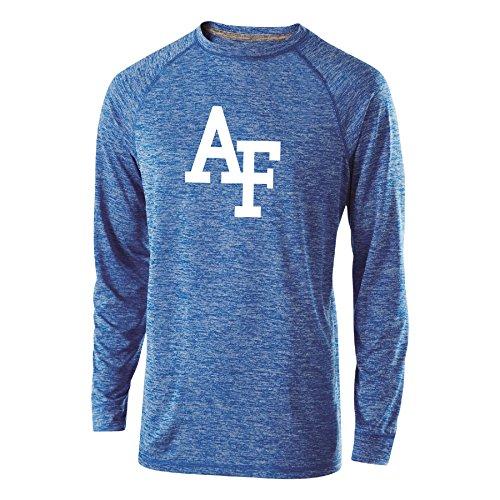 Ouray Sportswear NCAA Air Force Falcons Herren Electrify Long Sleeve Tee, Royal Heather, XXL -