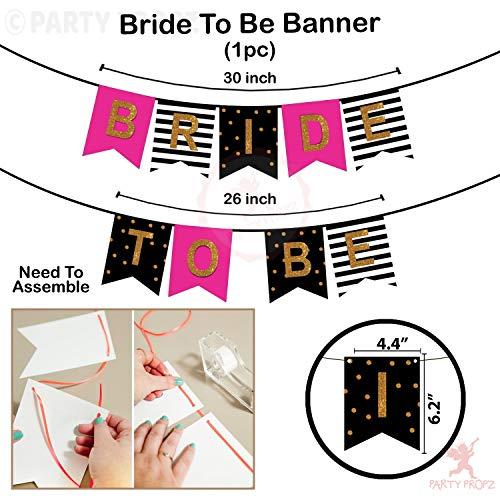 Party Propz 18 Pieces Bride to be Props, 1 Banner, 1 Sash, 1 Eyeglass