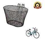 Ducomi Universal Fahrradkorb für Erwachsene, Kind und Mädchen - 31 x 19 x 18,5 cm - Kunststoff Anti-Rost Hundegitterkorb zum Aufhängen am Lenker - Walking- und CityBike-Fahrräder Jahrgang (Small)