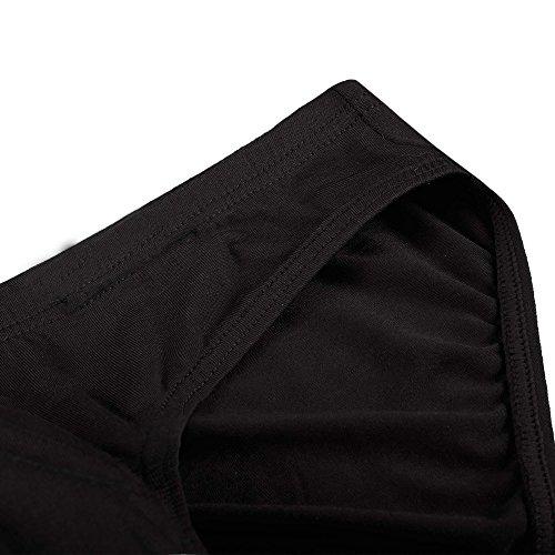 Keland Herren Basic Slips (4 Stück) sportliche Slips Minislips aus Modal in schönen Farben Top-Markenqualität Schwarz
