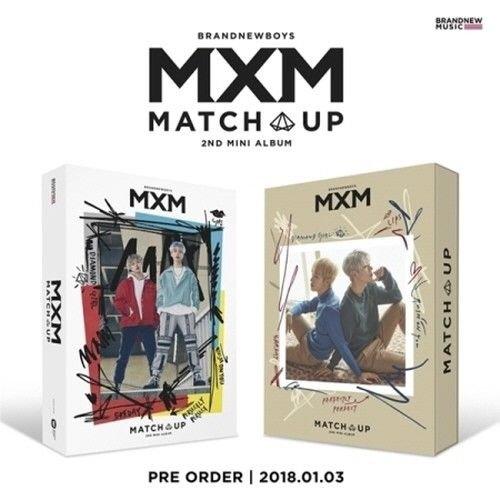Price comparison product image MXM - [Match Up] 2nd Mini Album M+X 2 VER SET 2CD+2p Mini Poster(On)+160p Photobook+4p Photo Card+2p Photo Stand Sealed