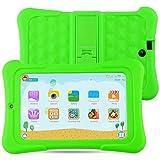 Alldaymall Bambini Tablet 7 pollici 16GB (IPS FHD 1920x1200, Processore 64-Bit Quad Core, RAM 1GB, Android 5.1, Wi-Fi) Verde Custodia Protettiva Antiurto - 2017 Tutte Nuove