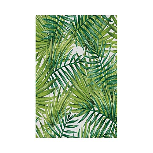 Liumiang Eco-Friendly Manual Custom Garden Flag Demonstration Flag Game Flag,Plant,Watercolor Tropical Palm Leaves Colorful Illustration Natural Feelings Decorative,Fern Green Lime Greenoor décor -