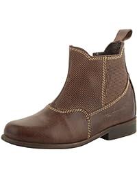 willywinkies Kids' Dark Brown Leather Chelsea Boots