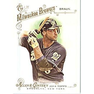 2014 Topps Allen & Ginter Baseball Card # 295 Ryan Braun, Milwaukee Brewers