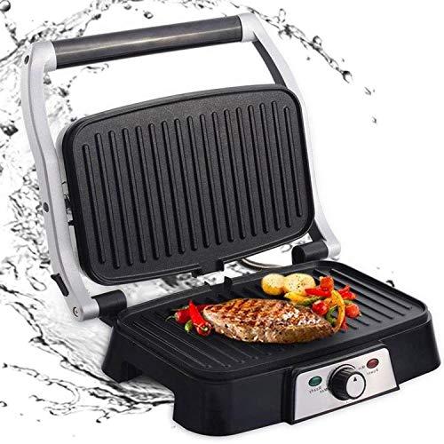 Aigostar Hitte 30HFA - Grill, parrilla, 1500 W de potencia, sandwichera y máquina de panini, 2 placas...