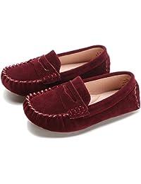 Sunny&Baby Zapatos Mocasines Para Niños Mocasines Para Niños Estilo Deslizante Suela Exterior Antideslizante Fácil de encender