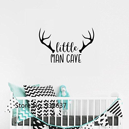 Wandtattoo Wohnzimmer Woodland Kinderzimmer Wandtattoo Little Man Cave Baby Boy Wandaufkleber für Wohnzimmer Kinderzimmer Kinder Schlafzimmer