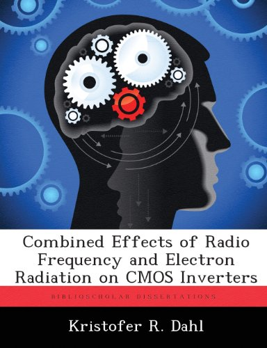 Combined Effects of Radio Frequency and Electron Radiation on CMOS Inverters