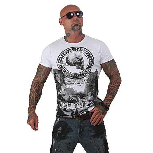 Yakuza Original Herren Italian Job T-Shirt, Gr.-M, Weiß
