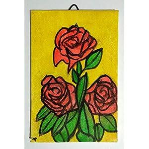 Die rote Rose – in Aquarell gemalt, auf Leinwand Papier Abmessungen cm 10x15x0,3 cm, bereit, an der Wand befestigt zu werden. Hergestellt in Italien, Toskana, Lucca. Erstellt von Davide Pacini.