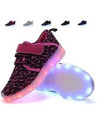 adituob Kinder LED Schuhe Damen Herren Leuchten Sportschuhe Unisex USB Lade Outdoor Leichtathletik Paare Schuhe