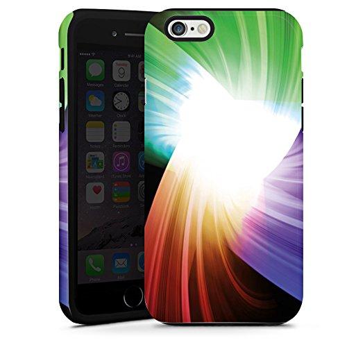 Apple iPhone 4 Housse Étui Silicone Coque Protection Prisme Couleurs Lumière Cas Tough terne