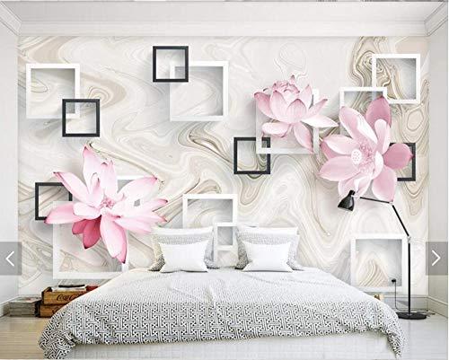 JJXBBL 3d wallpaper moderne quadratische seerose blume wandbilder foto mural für wohnzimmer wand dekor benutzerdefinierte jede größe landschaft tapeten-300cmX250cm