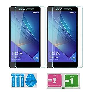 2x »Huawei Honor 7 (Ascend)« Panzerglas Displayschutzfolie | Blasenfrei | Ultra-HD | Bruchsicher | Rytek Panzerglasfolie ►lebenslange Garantie