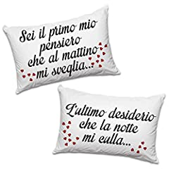 Idea Regalo - Babloo Coppia di Federe Love You And Me Primo Pensiero