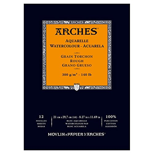 arches-bloc-aquarelle-grain-torchon-a4-300-g-12-pages-naturel-blanc