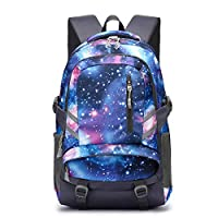 School Backpack, Laptop Backpack for Boys Girls Fits 15.6 inch Laptop Unisex Lightweight 30L College Rucksack Daypack with USB Charging Port for Women Men