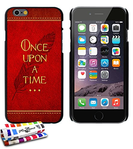 Muzzano Le Pearls Coque rigide Motif Once Upon a Time Noir avec Chiffon/Stylet pour iPhone 5S, coques iphone