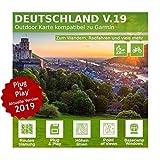 Deutschland V.19 - Profi Outdoor Topo Karte kompatibel zu Garmin GPSMap 60Csx