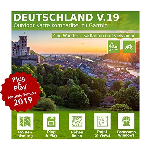 Deutschland V.19 - Profi Outdoor Topo Karte passend für Garmin GPS 60, GPSMap 60Cx, GPSMap 60CSx, GPSMap 62s, GPSMap 62sc, GPSMap 62st, GPSMap 62stc, GPSMap 64, GPSMap 64s, GPSMap 64st - Garmin Gpsmap 62sc-gps