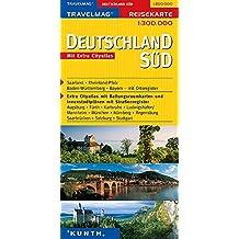 Carte de voyage sud Allemagne 1 : 300 000