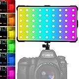Luce LED RGB Faretto per Fotocamere Videocamere, a Colore Pieno Ricaricabile Tascabile CRI 97 3200-5600K 0-360 ColoriFaretto LED Fotografia di Batteria Incorporata TYPE-C 3.0