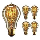 Glühlampe E27 40W 220V-240V, Vintage Edison Glühbirne E27, Dekorative Lampe, Dimmable, Retro Birne für den Haushalt dekorative Beleuchtung - 4 Stück
