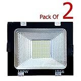 Generic RE20180039 100-Watt Flood Outdoor Light (Pack of 2, White)