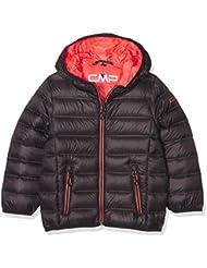 CMP plumífero para joven, otoño/invierno, niño, color Antracite/Red Fluo, tamaño 152