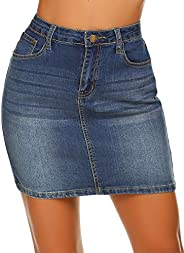 Women Stretch Denim Mini Skirt