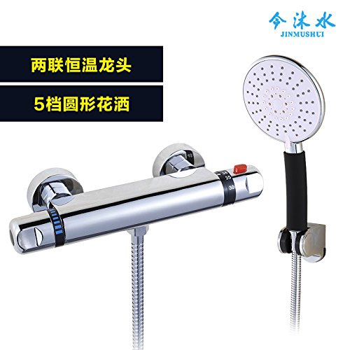 MangeooWarme und kalte Temperatur Druck automatische Regulierung Mischventil mit single wall Art Dusche setzt, thermostatische Dusche 5 - Thermostatische Wall