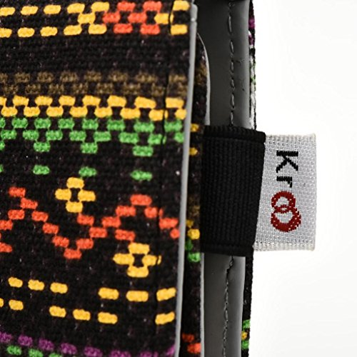 Kroo Téléphone portable Dragonne de transport étui avec porte-cartes pour pour ZTE Nubia Z7 jaune jaune