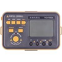 Medidores de resistencia al suelo Medidor de Aislamiento Resistencia a Ttierra Tester VC4105A Medidor de Tensión CA Digital Profesional -20Ω/200Ω/2000Ω Medidor de tTensión VC4105A+
