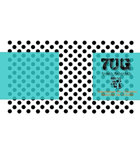 Designer Schablone, Motiv Points, Punkte, Polka Dots, Lochschablone, 7UG-026, Texturen für...
