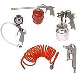 KINZO Kit Accessoires pneumatique 5 pcs - pistolet a peinture - pistolet gonflage