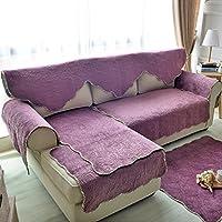 double-sided divano cuscini/American peluche doppio tre posti divano cuscini/ semplicità pastorale Sciarpa tinta Slipcover il divano-C 90x240cm(35x94inch)