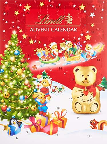Weihnachtskalender Tannenbaum.Lindt Teddy Adventskalender Tannenbaum Design 1er Pack 1 X 172 G