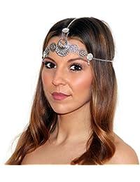 Marrakesch pelo cadena cabeza pelo banda de banda cadena de pelo joyas en diferentes Style 's en oro de imitación de desido® (Vintage boho de diadema cadena)