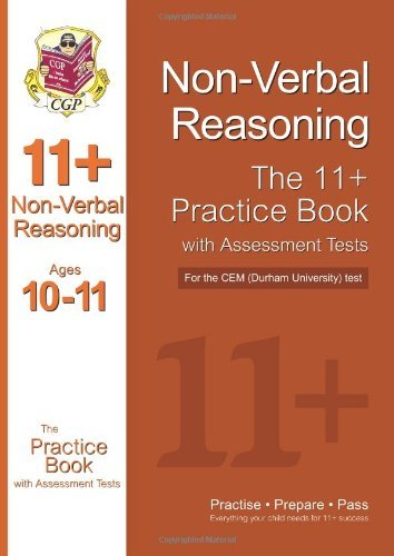 By CGP Books 11+ Non-Verbal Reasoning Practice Book with Assessment Tests (age 10-11) for the CEM Test (11+ Verbal Reasoning)