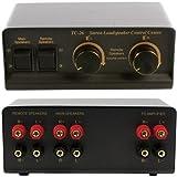 Splitter für Stereo-Lautsprecher, Audio Switch, 2-Wege, inkl. Lautstärkeregler