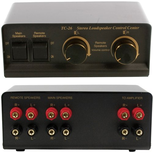 Splitter für Stereo-Lautsprecher, Audio Switch, 2-Wege, inkl. Lautstärkeregler Video-stereo-lautsprecher