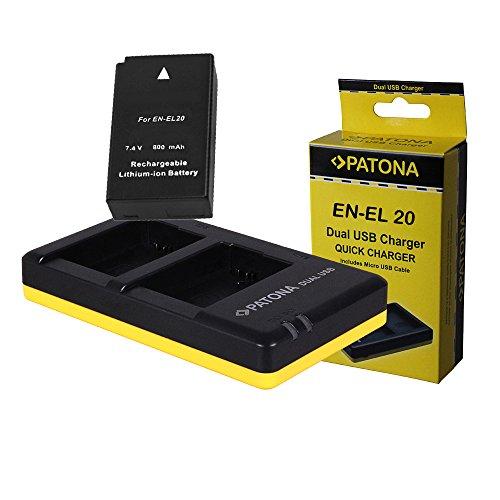 Cargador Dual + Bateria EN-EL20 Nikon 1 J1 | 1 J2 | 1 J3 | 1.