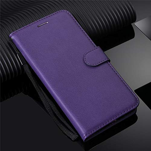 Erstklassige PU-lederne Telefon-Mappen-Kasten-Mappen-Abdeckung für Samsung-Galaxie-Anmerkung 4 Fall-lederne Schlag-Telefon-Abdeckung Coque für Samsung-Anmerkung 4 Premium-Handyhülle ( Color : Purple )
