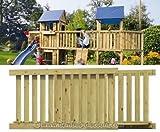 Holzbrücke für Basis Spielturm, Bausatz mit 113x180x89cm - Kinderspielgeräte für Garten, Spielgeräte für Kinder, Spielturm, Spieltürme