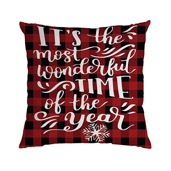 IJKLMNOP Christmas Pillow Square Pillow Case Lino Mat 45x45cm es Adecuado para oficinas, Casas, automóviles, cafeterías… 10