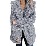 TianWlio Damen Mäntel Frauen Lässige Warmer künstlicher Wollmantel Jacke Revers Winter Oberbekleidung