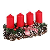 new home Adventsgesteck 35x15cm Weihnachtsgesteck Weihnachtsdeko Adventskranz Adventsdeko